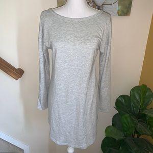 Lou & Grey gray sweatshirt tunic dress size M